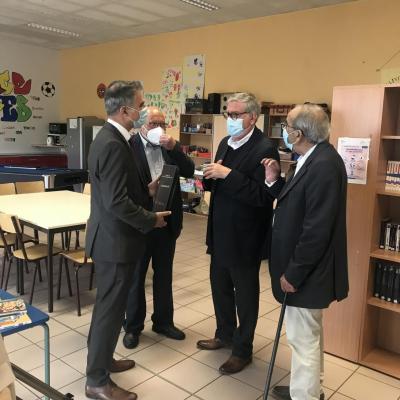 Echange avec les élus et les membres de la communauté portugaise de la commune